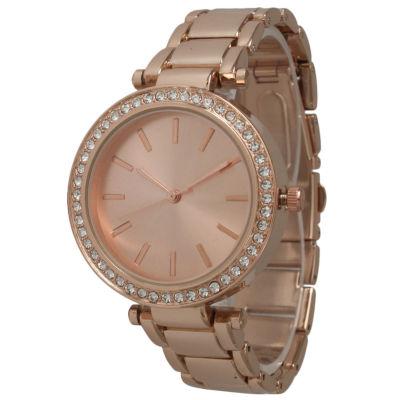 Olivia Pratt Womens Rose Goldtone Bracelet Watch-14202rose