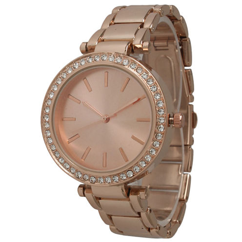 Olivia Pratt Womens Rose Goldtone Bracelet Watch-14202rose
