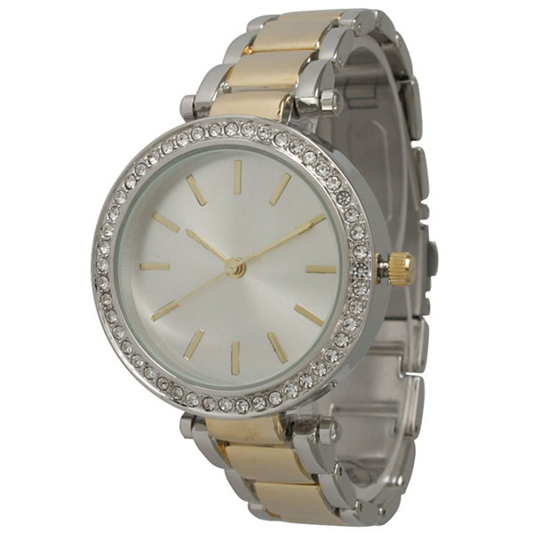 Olivia Pratt Womens Two Tone Bracelet Watch-14202two Tone