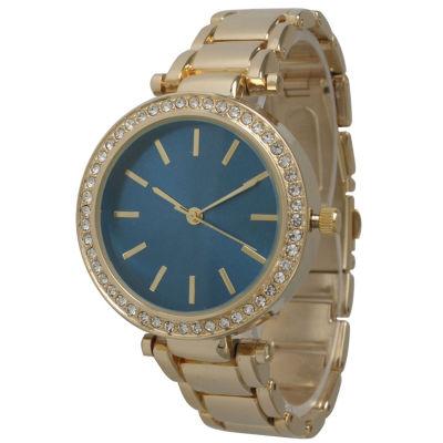Olivia Pratt Womens Gold Tone Bracelet Watch-14202royal
