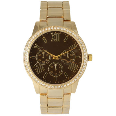 Olivia Pratt Womens Gold Tone Bracelet Watch-14203brown