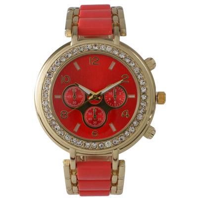 Olivia Pratt Womens Pink Bracelet Watch-26245coral