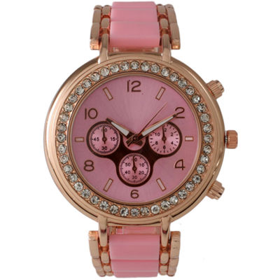 Olivia Pratt Womens Pink Bracelet Watch-26245lightpink