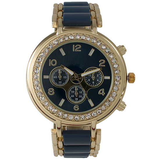Olivia Pratt Womens Blue Bracelet Watch-26245navy