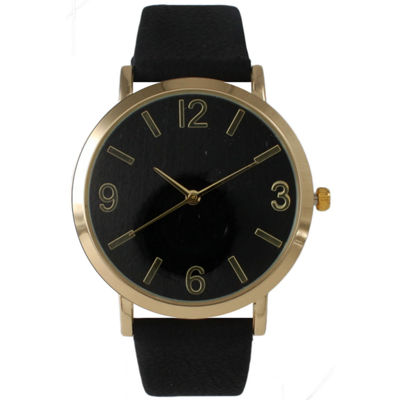 Olivia Pratt Womens Black Strap Watch-26268bblack