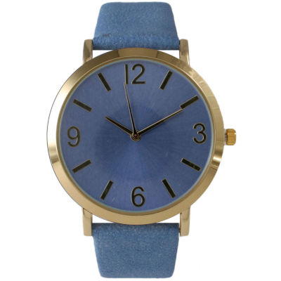 Olivia Pratt Womens Blue Strap Watch-26268bblue