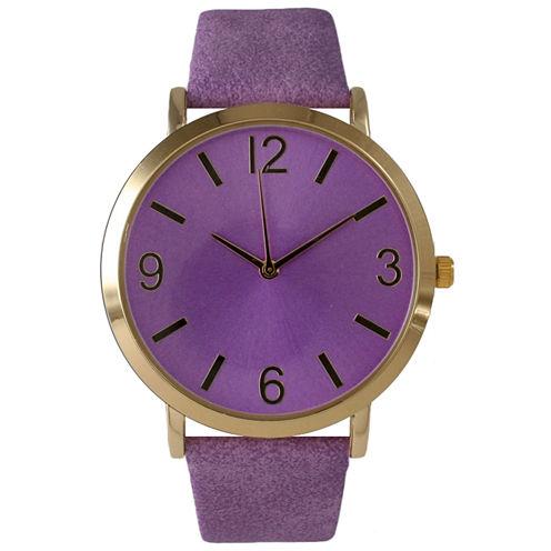 Olivia Pratt Womens Purple Strap Watch-26268bpurple