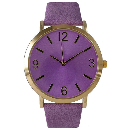 Olivia Pratt Womens Purple Strap Watch-26268bpurple