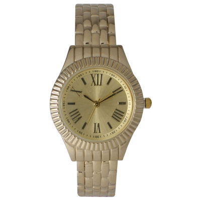 Olivia Pratt Womens Gold Tone Bangle Watch-26413gold