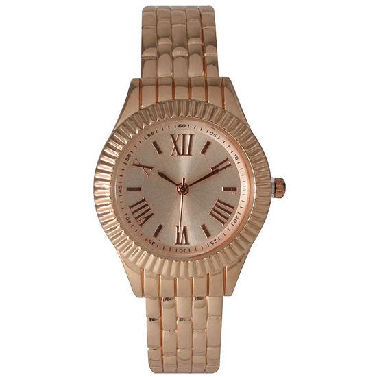 Olivia Pratt Womens Rose Goldtone Bangle Watch-26413rose