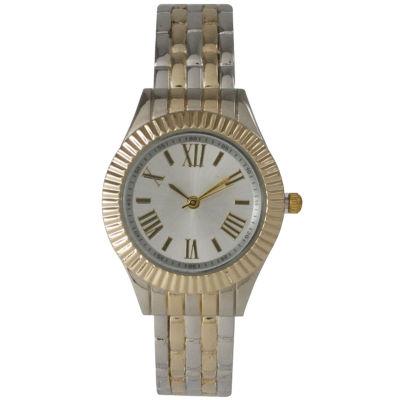 Olivia Pratt Womens Two Tone Bangle Watch-26413twotone