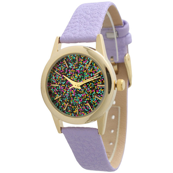 Olivia Pratt Womens Purple Strap Watch-40002lavender