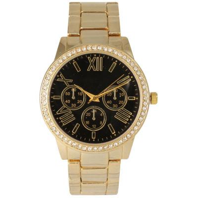 Olivia Pratt Womens Gold Tone Bracelet Watch-14203black