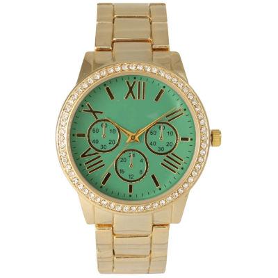 Olivia Pratt Womens Gold Tone Bracelet Watch-14203mint