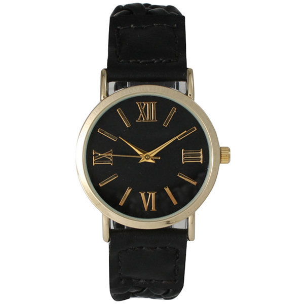 Olivia Pratt Womens Black Bracelet Watch-14654black