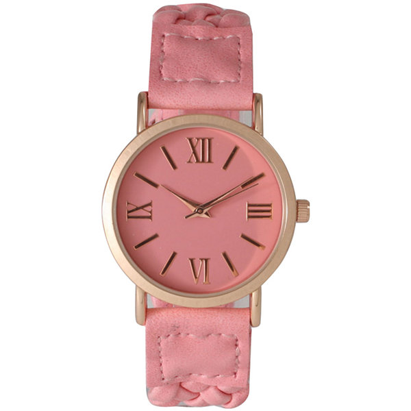 Olivia Pratt Womens Pink Bracelet Watch-14654bubblepink