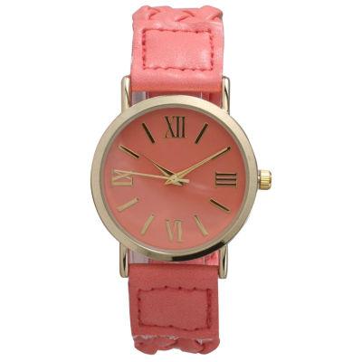 Olivia Pratt Womens Pink Bracelet Watch-14654coral