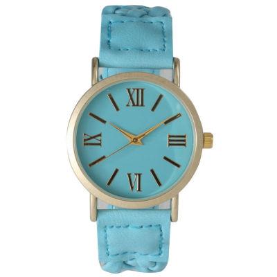 Olivia Pratt Womens Blue Strap Watch-14654lightblue