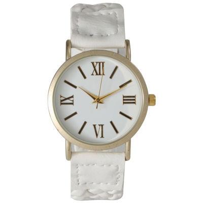 Olivia Pratt Womens White Strap Watch-14654white