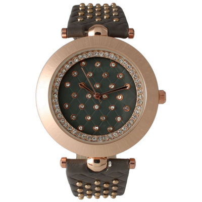 Olivia Pratt Womens Gray Strap Watch-14703greyrose