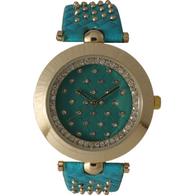 Olivia Pratt Womens Green Strap Watch-14703mint