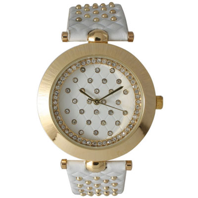 Olivia Pratt Womens White Strap Watch-14703white