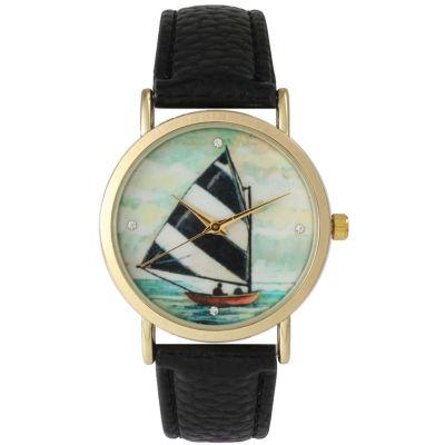 Olivia Pratt Womens Black Strap Watch-15009black