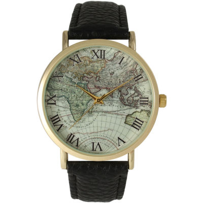 Olivia Pratt Womens Black Strap Watch-15043black