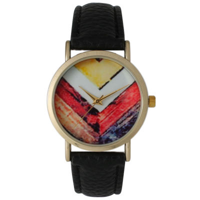 Olivia Pratt Womens Black Strap Watch-15135black