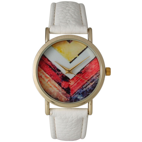 Olivia Pratt Womens White Strap Watch-15135white
