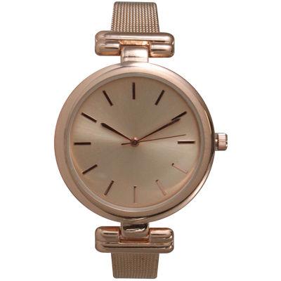 Olivia Pratt Womens Pink Strap Watch-15143rose
