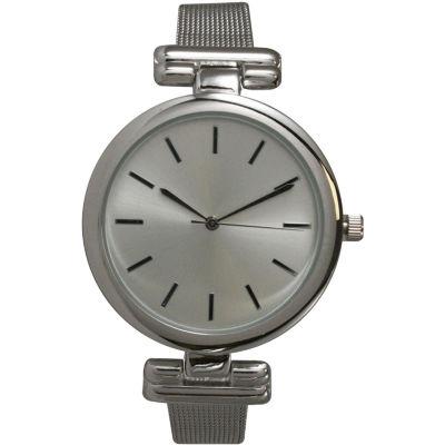 Olivia Pratt Womens Silver Tone Strap Watch-15143silver