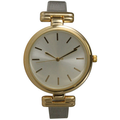 Olivia Pratt Womens Two Tone Strap Watch-15143twotone