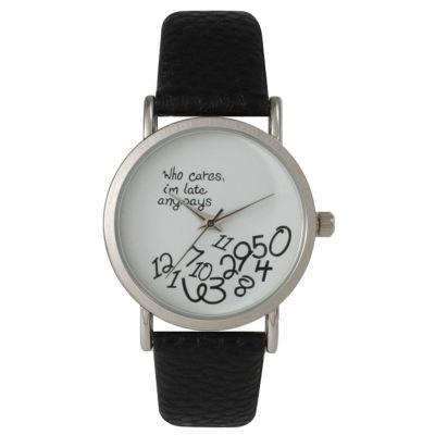 Olivia Pratt Womens Black Strap Watch-15189black