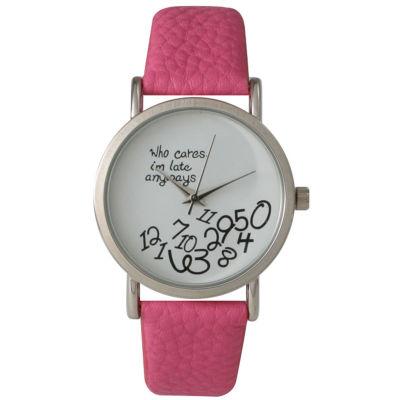 Olivia Pratt Womens Pink Strap Watch-15189bubblepink
