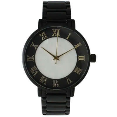 Olivia Pratt Womens Black Strap Watch-15255mpblack