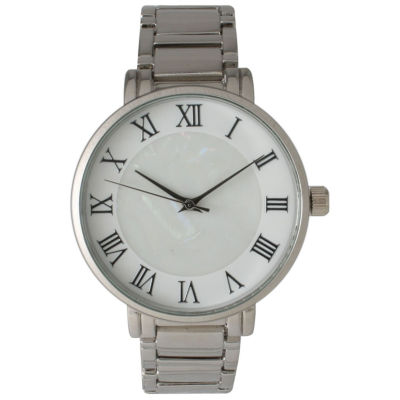 Olivia Pratt Womens Silver Tone Strap Watch-15255mpsilver