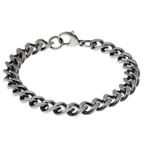 Stainless Steel 8.5 Inch Curb Chain Bracelet