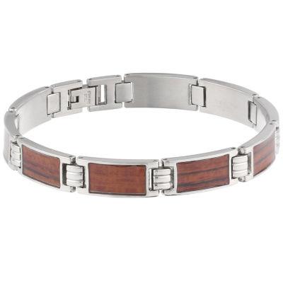 Mens 9 Inch Stainless Steel Link Bracelet