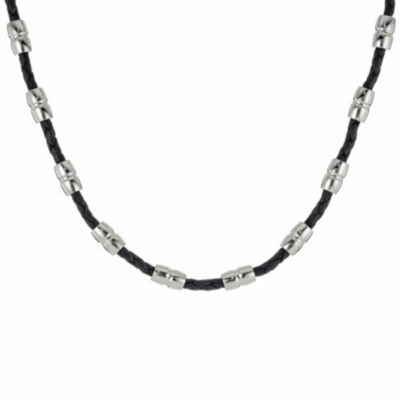 Stainless Steel 22 Inch Solid Braid Chain Necklace
