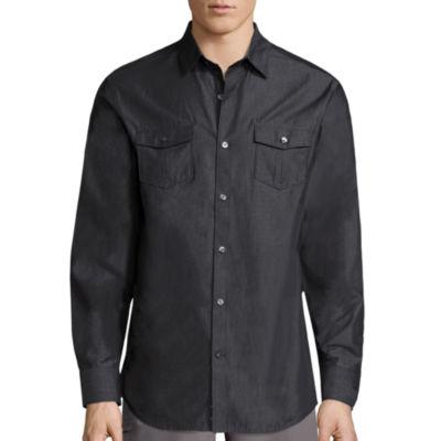 Claiborne Long Sleeve Button-Front Shirt