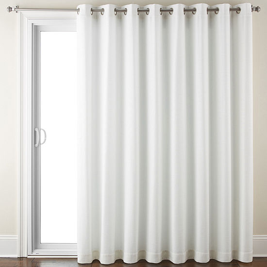 Liz Claiborne Energy Saving Light-Filtering Grommet-Top Single Patio Door Curtain