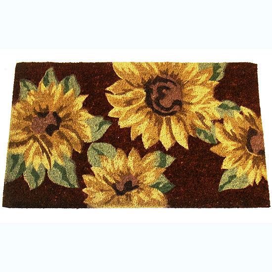 "Sunflowers Rectangular Doormat - 18""X30"""