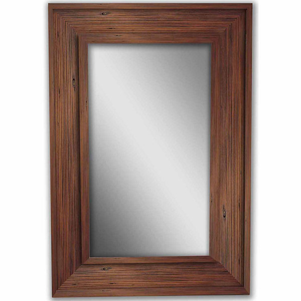 Natural Brown Bone Wood Mirror
