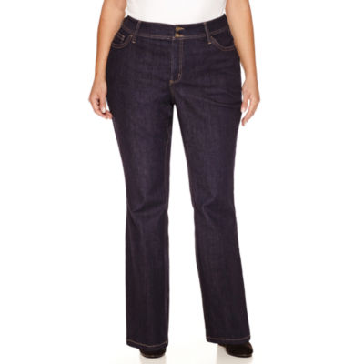 "St. John's Bay Straight Fit Bootcut Jeans-Plus (31""/29"" Short)"