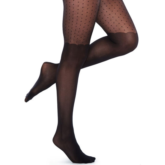 Mixit 1 Pair Sheer Dot OTK Tights
