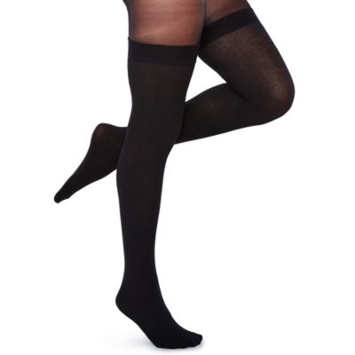 Mixit 1 Pair Sheer Over The Knee Ribbed Tights