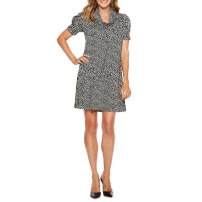 Jessica Howard Short Sleeve Shift Dress