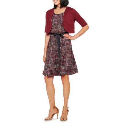 Perceptions Elbow Sleeve Jacket Dress