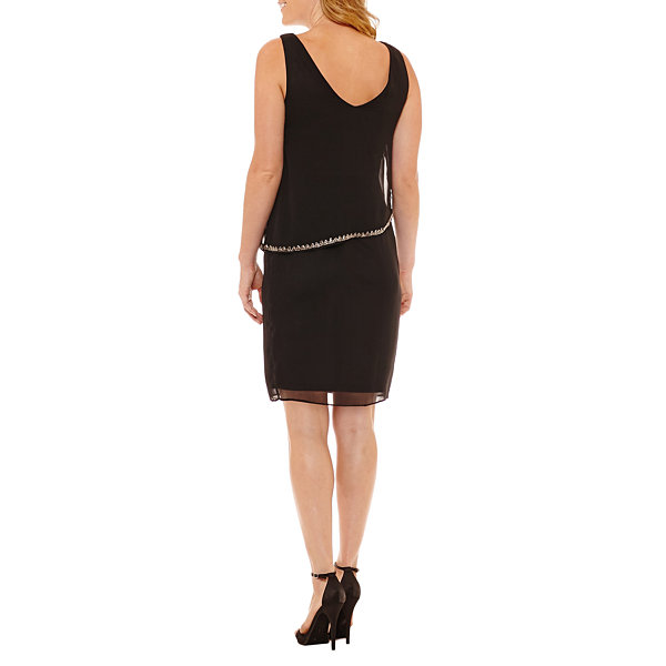 Studio 1 Sleeveless Embellished Sheath Dress